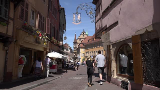 People walking in old town of Colmar
