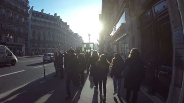 people walking in paris, france - france stock videos & royalty-free footage
