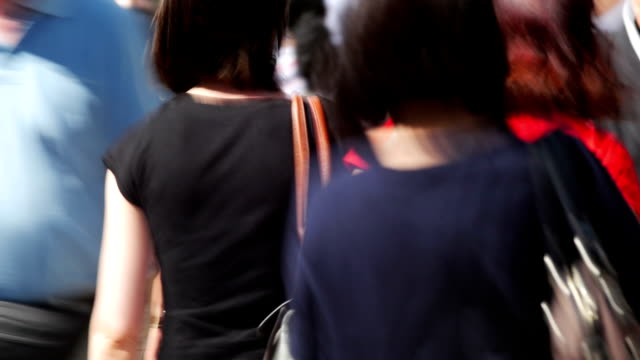 People Walking In Shopping Street Time Lapse (Blurred Motion)