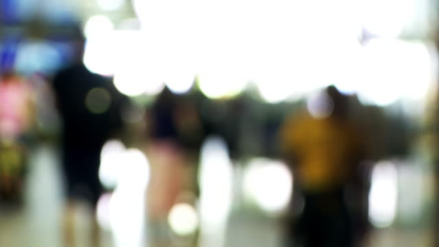 people walking in station - blurred motion stock videos & royalty-free footage