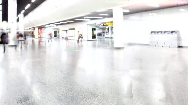 people walking in subway station,time lapse.