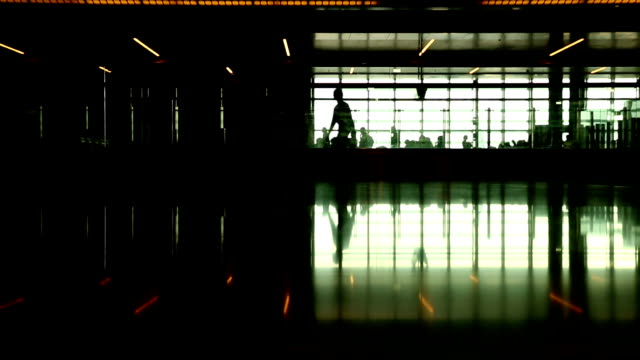 people walking in the airport - qatar stock videos & royalty-free footage