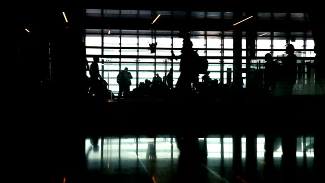 People Walking in the Airport
