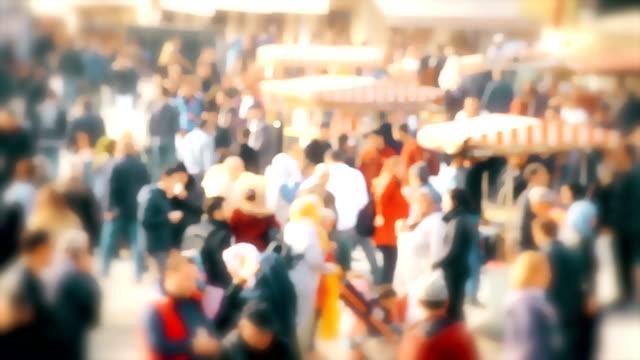 People Walking in the Crowd , Eminonu ,Istanbul - Stock video