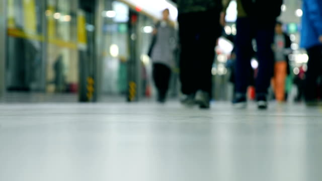 people walking in the subway - tramway stock videos & royalty-free footage