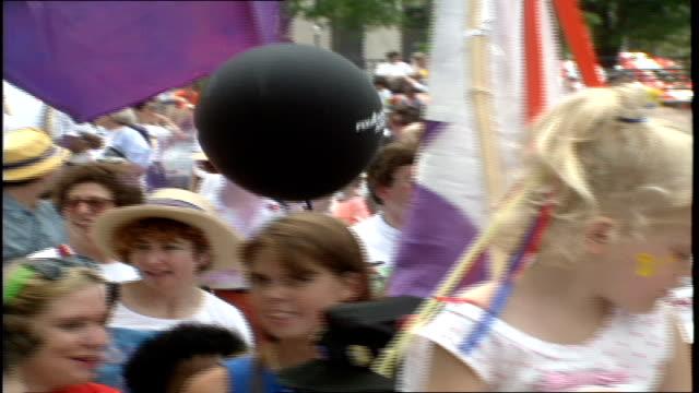 CU People Walking in the Sun Ra Parade in Birmingham Alabama