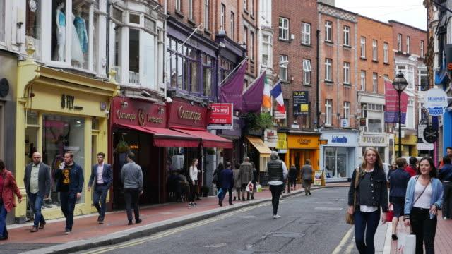 People Walking In Wicklow Street In Dublin