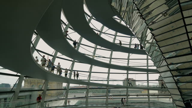 people walking inside reichstag,ms - curve stock videos & royalty-free footage
