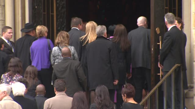 WGN People Walking Into Church At Eberts Funeral Holy Name Cathedral On April 08 2013