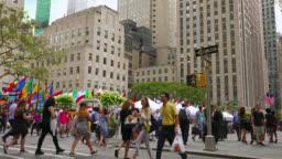 People walking on ave, Manhattan, New York