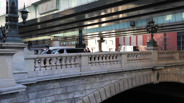 MS PAN People walking on bridge / Nihonbashi, Tokyo, Japan