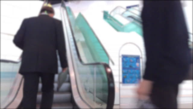 people walking on escalator - times square causeway bay stock videos & royalty-free footage