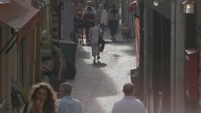 MS People walking on street / Antibes, France