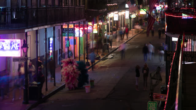 ws ha t/l people walking on street at night - western script stock videos & royalty-free footage