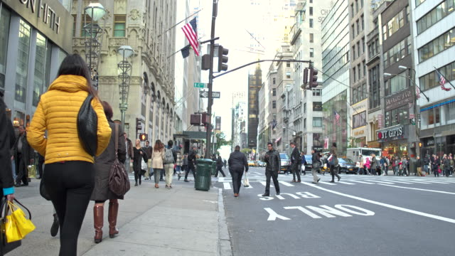 People walking on the 5th Avenue, New York, USA