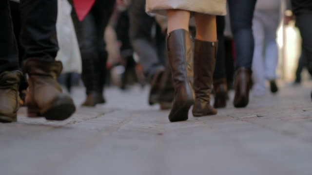People walking - surface level view