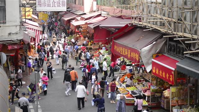 T/L WA HA People walking through outdoor market