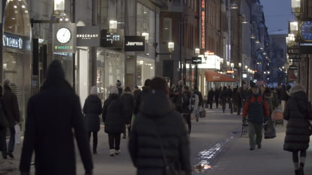People walking through the high street / Stockholm, Sweden