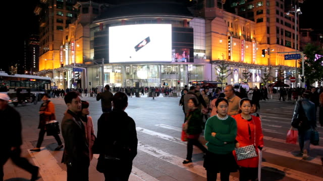people walking time lapse on wangfujing street in beijing,chaina - beijing stock videos & royalty-free footage