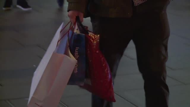 people walking - shopping bag stock videos & royalty-free footage