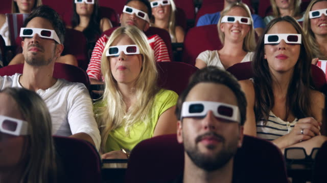 People watching 3D movie