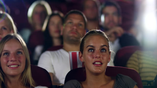 People watching movie