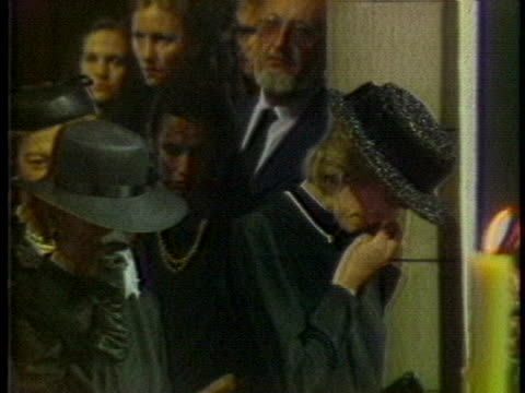 people weep at the funeral of princess grace. - princess stock videos & royalty-free footage