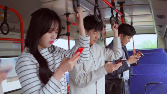 people who only use cell phones on the bus - morality stock videos & royalty-free footage