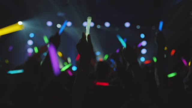 people with glowsticks - nightclub stock videos & royalty-free footage