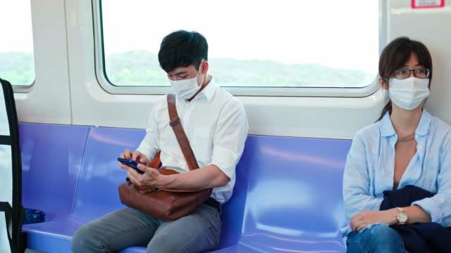 people with mask in mrt - taiwan stock videos & royalty-free footage
