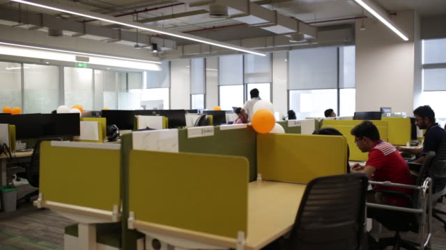 people working at amazoncom inc office campus hyderabad telangana hyderabad india on friday september 6 2019 - desk stock videos & royalty-free footage