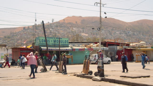 people working at slums at oaxaca, mexico - corner stock videos & royalty-free footage