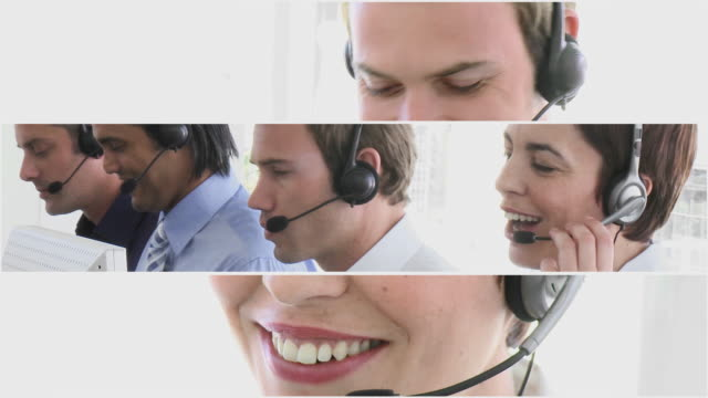 stockvideo's en b-roll-footage met cu people working in call centre / cape town, western cape, south africa - medewerkerbetrokkenheid