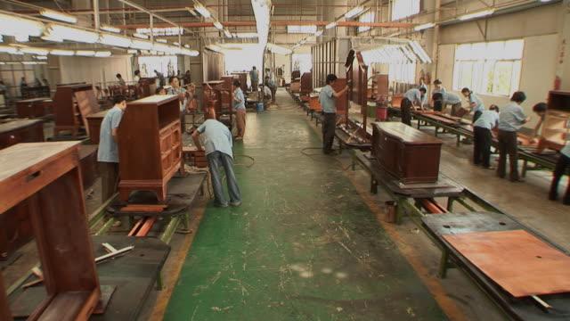 WS People working in furniture factory/ Dongguan, China