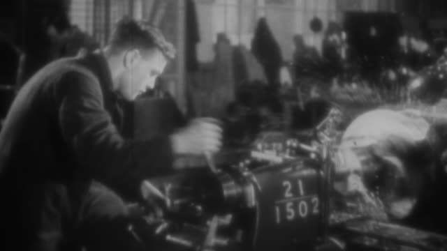 ws people working in  machine shop / united states - 1930 stock videos & royalty-free footage