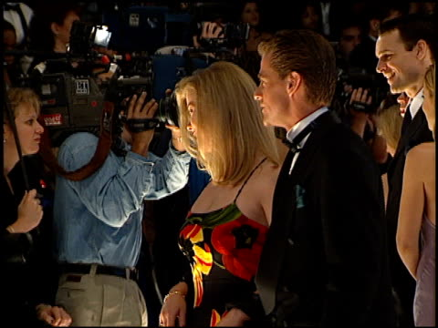 people's choice awards 98 cam 1b arrivals pressroom at the 1998 people's choice awards arrivals and press room at barker hanger in santa monica... - people's choice awards stock videos & royalty-free footage
