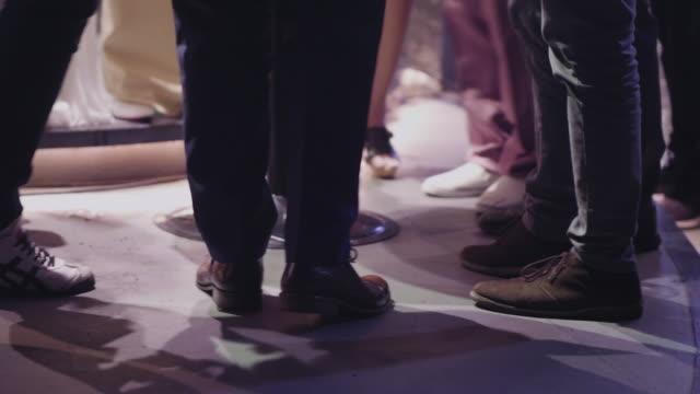 People's Feet At Club