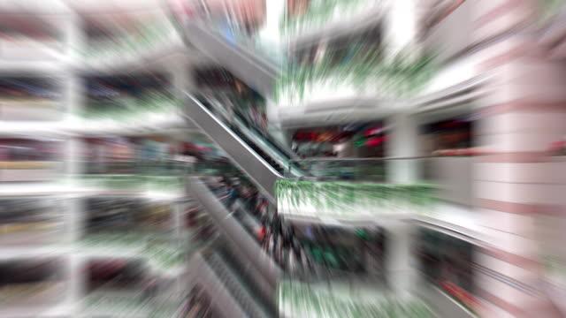 popoli in centro commerciale time lapse - centro commerciale suburbano video stock e b–roll
