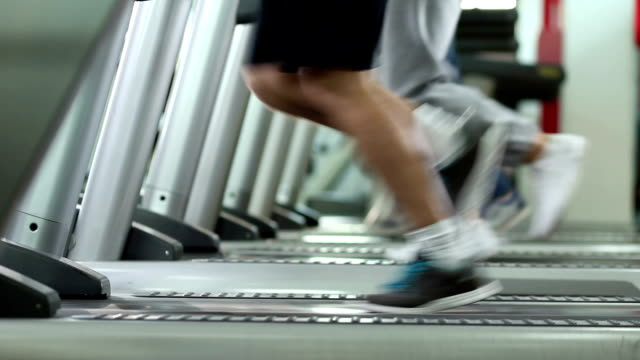 people's legs running - treadmill stock videos & royalty-free footage
