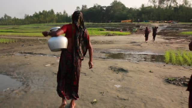 People's lifestyle in the dried river on January 06 2018 Kaliganga river is experiencing low water levels which is tributary of the river Padma As...