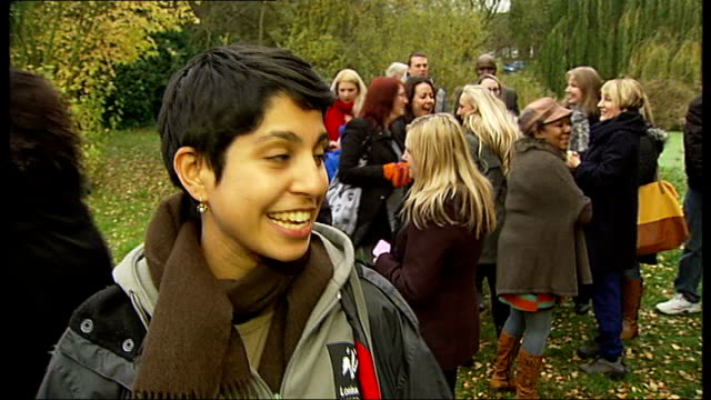 people's millions 2013 wild about thamesmead project wins award jeannine morosnoujaim interview sot various of pond path through wooded area... - environmental media awards stock videos & royalty-free footage