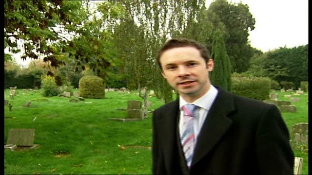 vídeos de stock, filmes e b-roll de people's millions competition; essex: ilford animal cemetery: reporter to camera - ilford