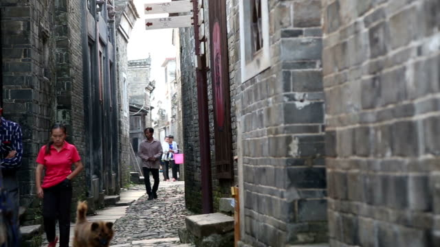 Fuzhou, China - May 29, 2017: People's morning activities in the old town