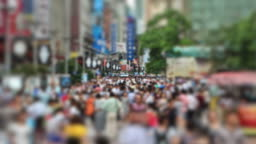 Peoples Square China Zoom Out