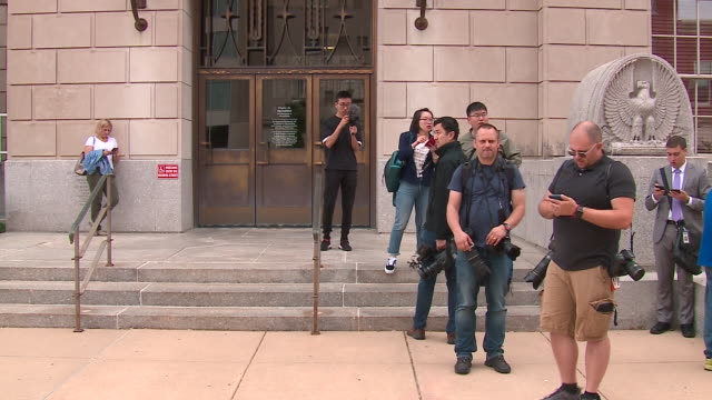 WGN Peoria IL US Scenes outside courthouse on day 1 of Yingying Zhang's murder trial on Wednesday June 12 2019