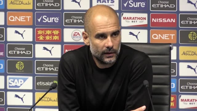 pep guardiola speaks at a press conference following 2-2 draw with tottenham. he talks about the inconsistencies of var, reflecting on the last time... - var stock videos & royalty-free footage