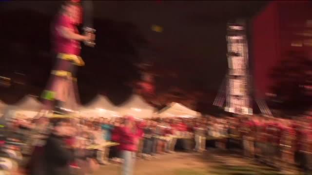 pep rally - チアリーダー点の映像素材/bロール