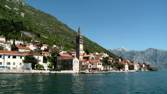 perast by boat - perast stock videos and b-roll footage