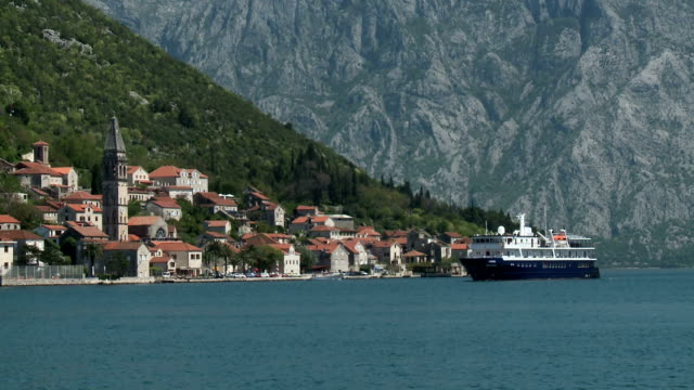 perast ferry - perast stock videos and b-roll footage