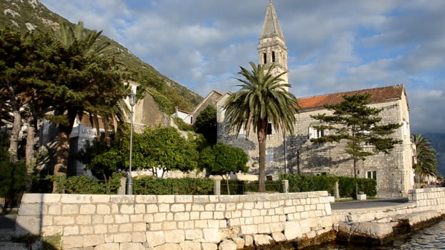 perast, montenegro (hd) - perast stock videos and b-roll footage